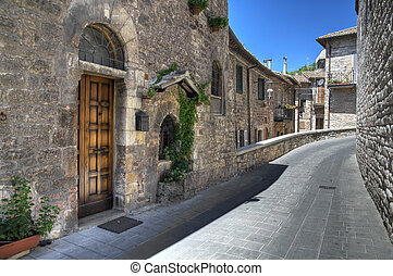 Alleyway. Assisi. Umbria.