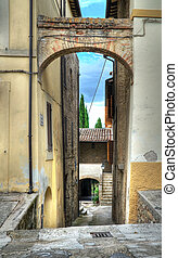 Alleyway. Bevagna. Umbria.