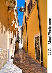 Alleyway. Brindisi. Puglia. Italy.