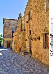 Alleyway. Civita di Bagnoregio. Lazio. Italy.