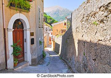 Alleyway. Morano Calabro. Calabria. Italy.