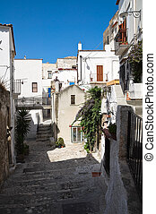 Alleyway. Peschici. Puglia. Italy.