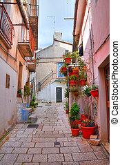 Alleyway. San Giovanni Rotondo. Puglia. Italy.