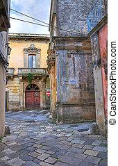 Alleyway. Tricase. Puglia. Italy.