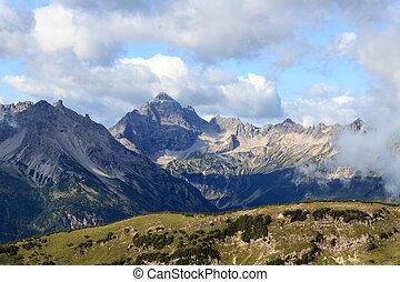 Allgau Alps - Mountain Hochvogel - Mountain Hochvogel in the...