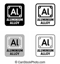 alliage, aluminium, predomination, composé