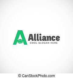Alliance Abstract Vector Logo Template, Symbol or Icon