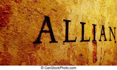 alliance, concept, grunge