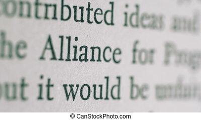 Alliance for progress