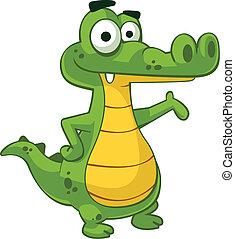 Alligator EPS10 vector