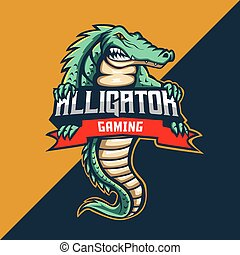 alligator mascot logo template