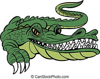 alligator, spotprent