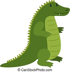 Alligator. Vector happy cartoon crocodile mascot