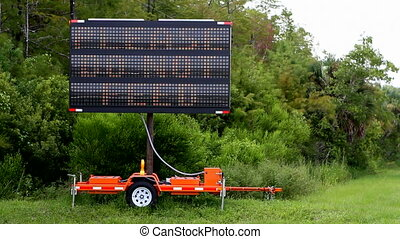 Alligator Warning Sign - Traffic advisory sign is used to...