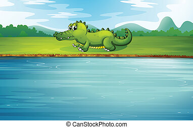 alligatore, sponda