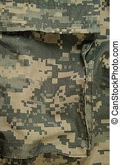 allmän, kamouflage, mönster, frakt, lagring, ficka, här, strid