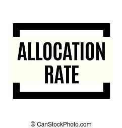 allocation, estampilla, tasa, negro