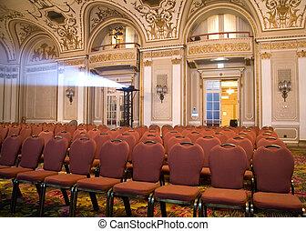 allocation places, ouvert, auditorium