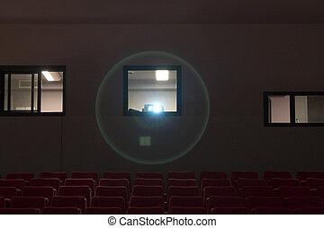 allocation places, théâtre, projecteur, vide