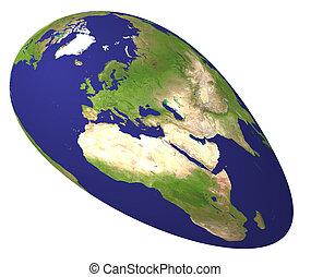 allongé, globe