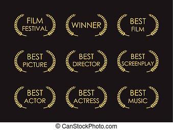 alloro, premi, premio, film, segno