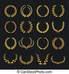 alloro, wreaths., set