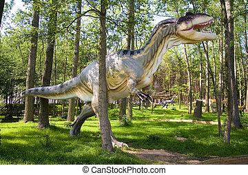 Allosaurus fragilis - Jurassic park - set of dinosaurs -...