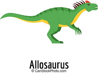 Allosaurus icon, flat style.