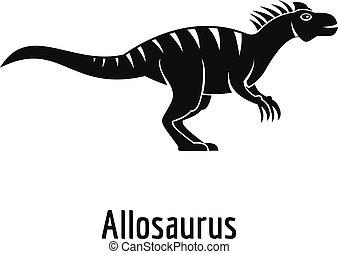 Allosaurus icon, simple style.