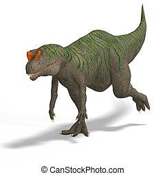 Allosaurus - Giant Dinosaur Allosaurus With Clipping Path...