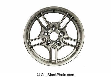 Alloy car rim isolated on white