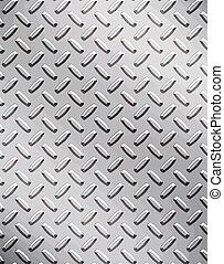 a large seamless sheet of alluminium or nickel diamond or tread plate