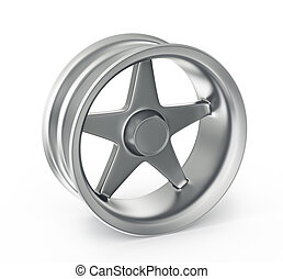 alloy rim isolated on a white background
