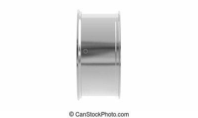 Alloy rim - Car alloy rim spin on white background