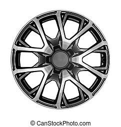 Alloy wheel for a car.