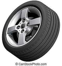 Alloy wheel isolated - High quality vector image of alloy...