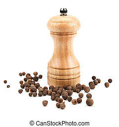 allspice and a mill for grinding - allspice, and a mill for...