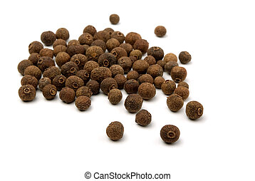 Allspice - Pile of whole allspice berries isolated on white