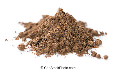 Allspice Powder (isolated on white) - Heap of Allspice...