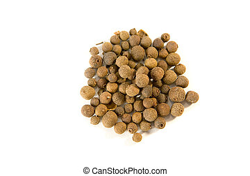 allspice  - Whole allspice berries  isolated on white ground