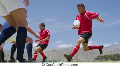 allumette, champ, rugby