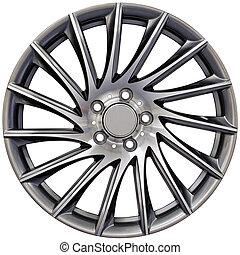 alluminio, da corsa, ruota