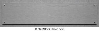 alluminio, -, illustrazione, segno, vuoto, 3d