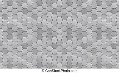 alluminio, seamless, struttura, pavimentato, esagonale,...