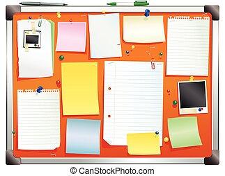 Alluminium framed orange bulletin board.eps - An...