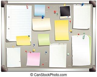 Alluminum framed gray bulletin board