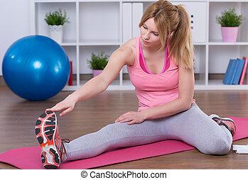 allungamento donna, gambe