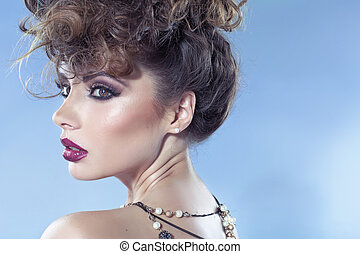 Alluring lady with beautiful sensual lips