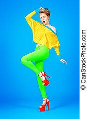 alluring model - Glamorous fashion model alluring in vivid...