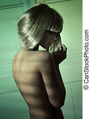 Alluring slim lady without clothes - Alluring slim lady...